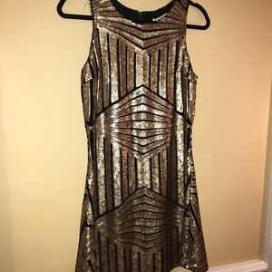 Black and Gold sequined dress